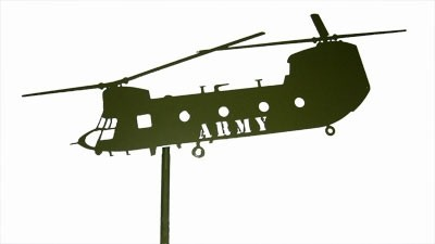 Chinook Green Post Mount Laser Cut ARMY